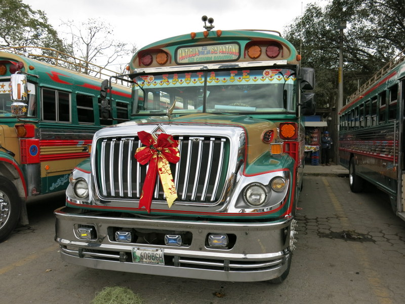 Festive Chicken Bus
