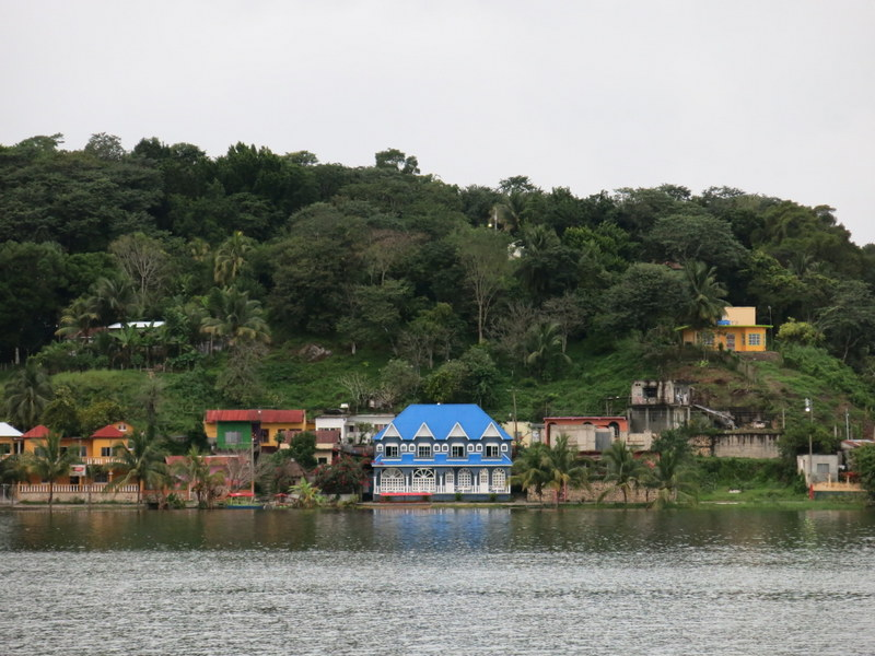Houses on Lake Peten Itza