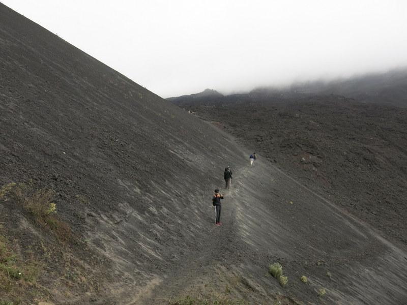 Trekking in the lava field