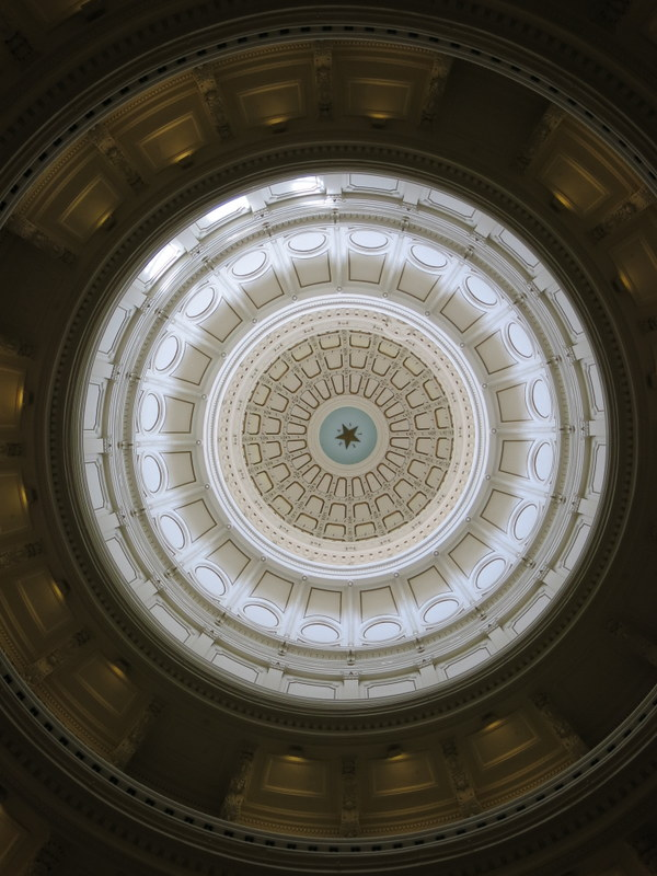 Looking up at the Dome (the star in the middle is 8 feet wide)