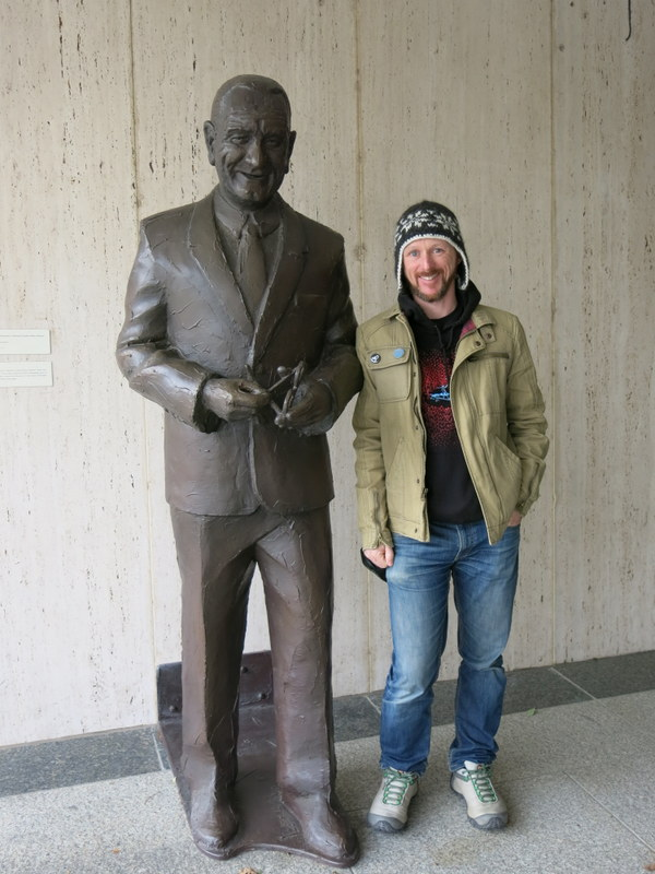 Hanging out with the man himself