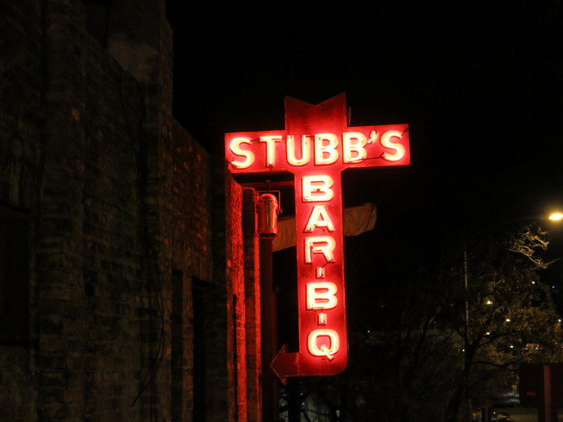The famous Stubbs BBQ