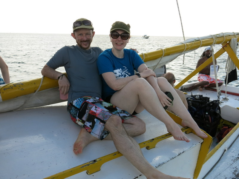 Kickin' back on a sailboat in the Caribbean