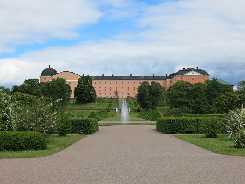 looking back up at uppsala castle