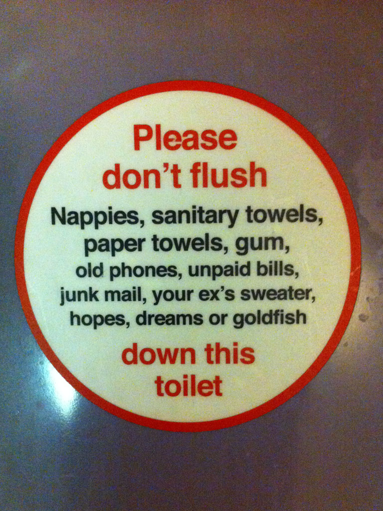 a virgin trains sticker of advice