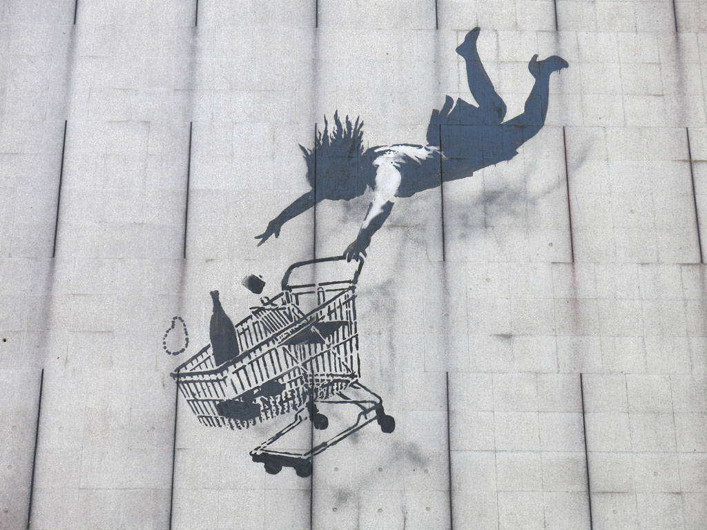 i even love the shadows under the falling shopper