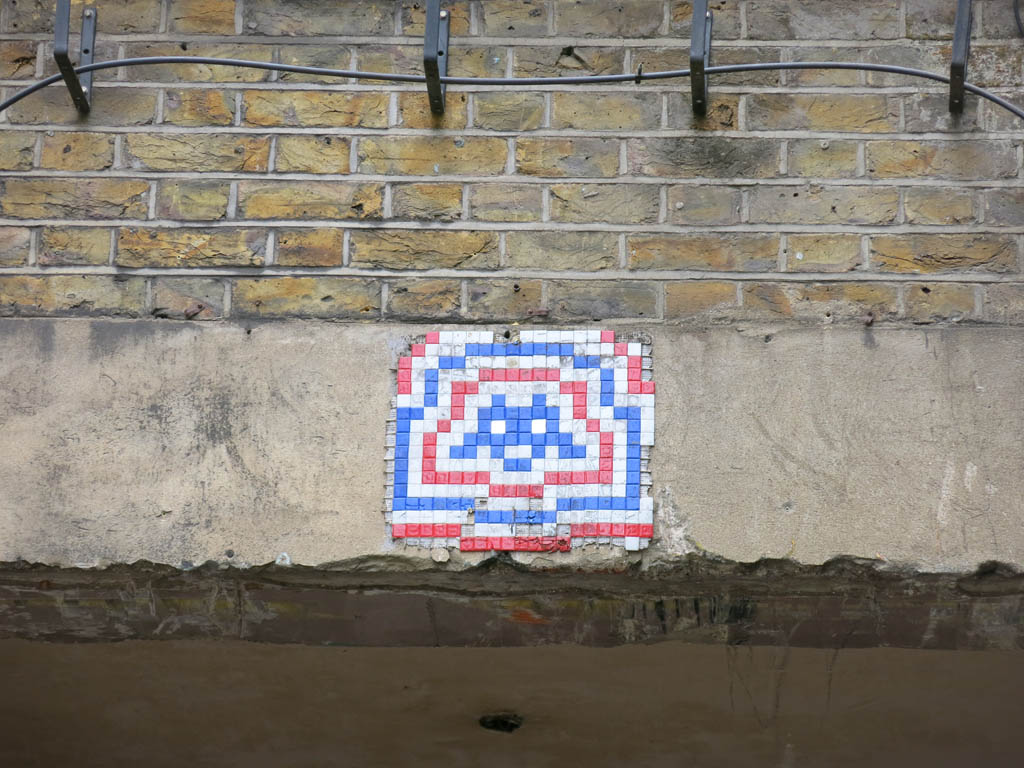 watch out! space invader overhead!