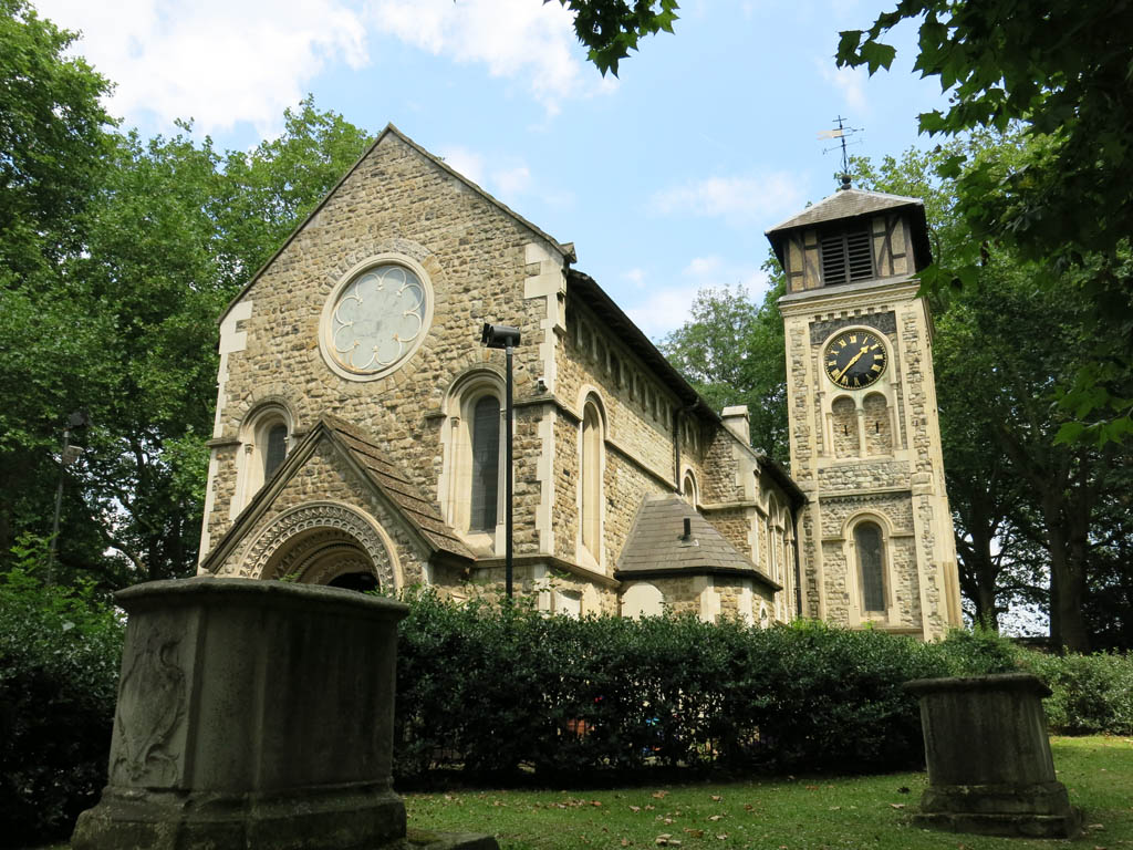 rest stop at st pancras old church