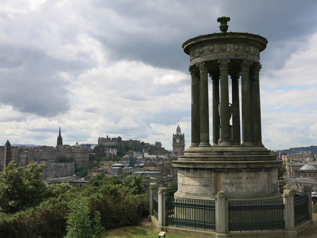 overlooking edinburgh