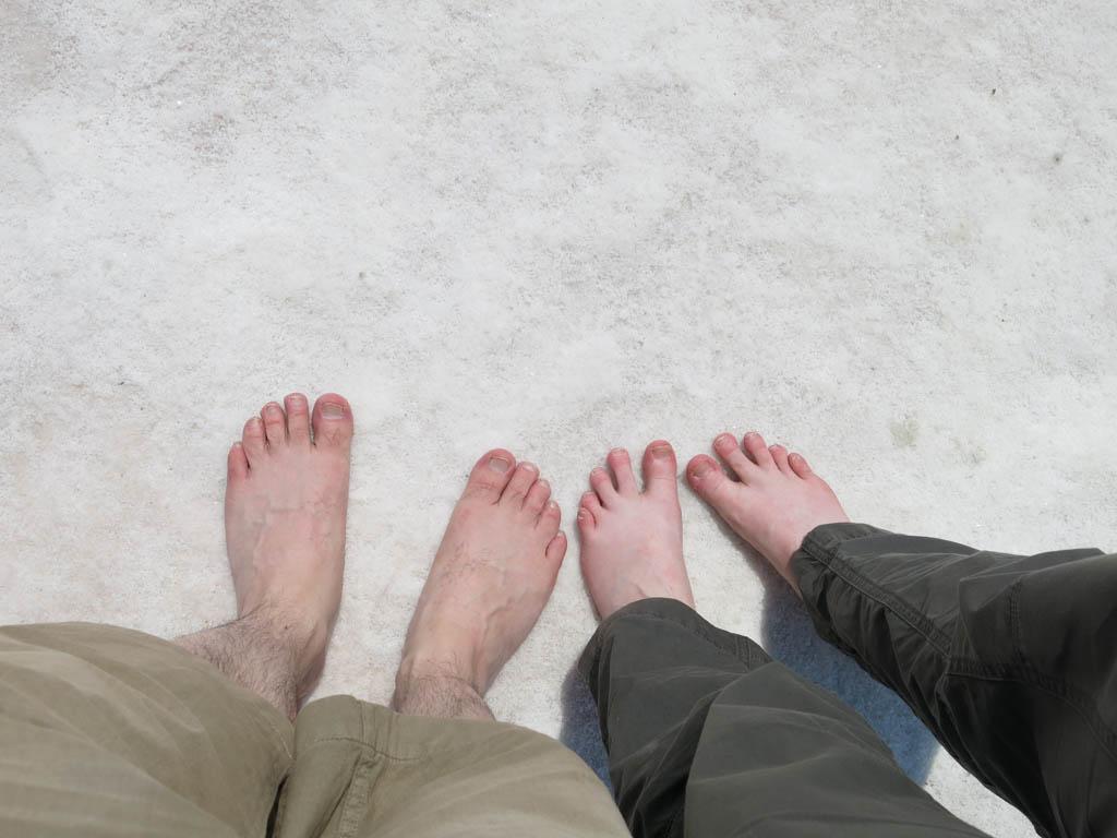 crunchy feet