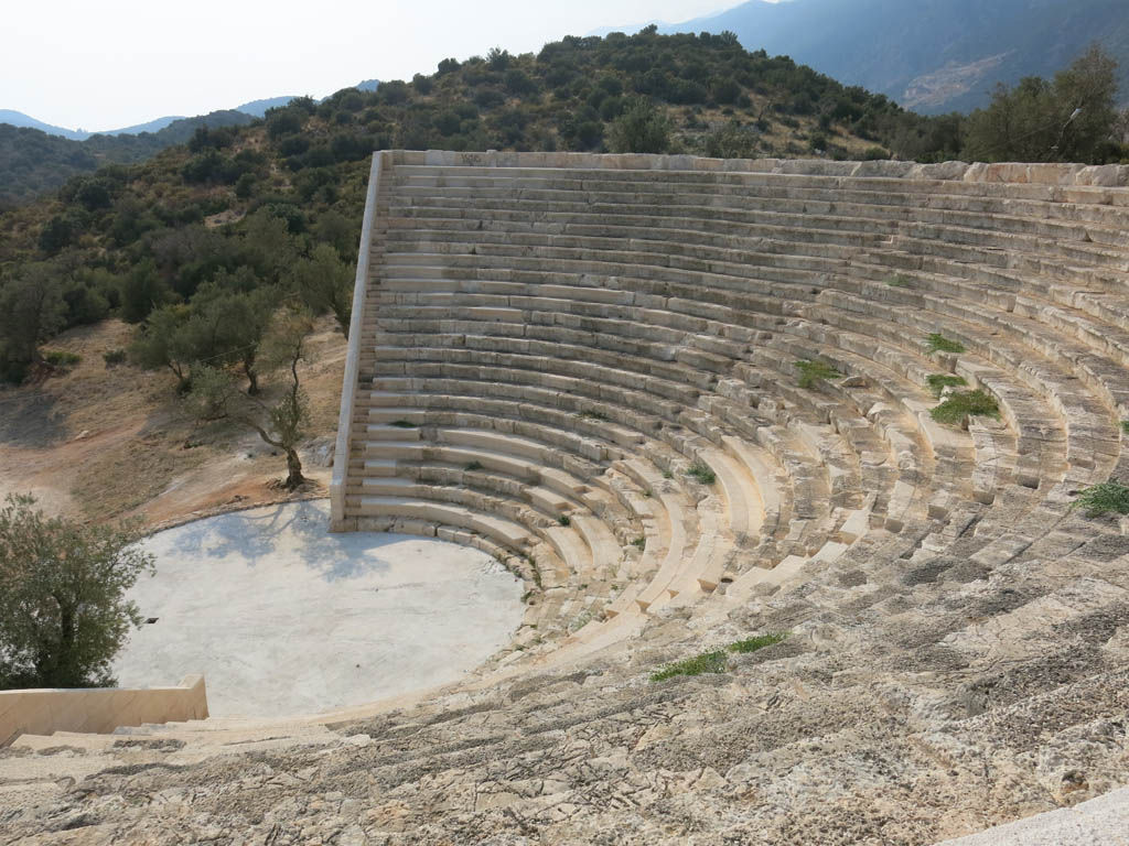 sitting up top in the amphitheatre