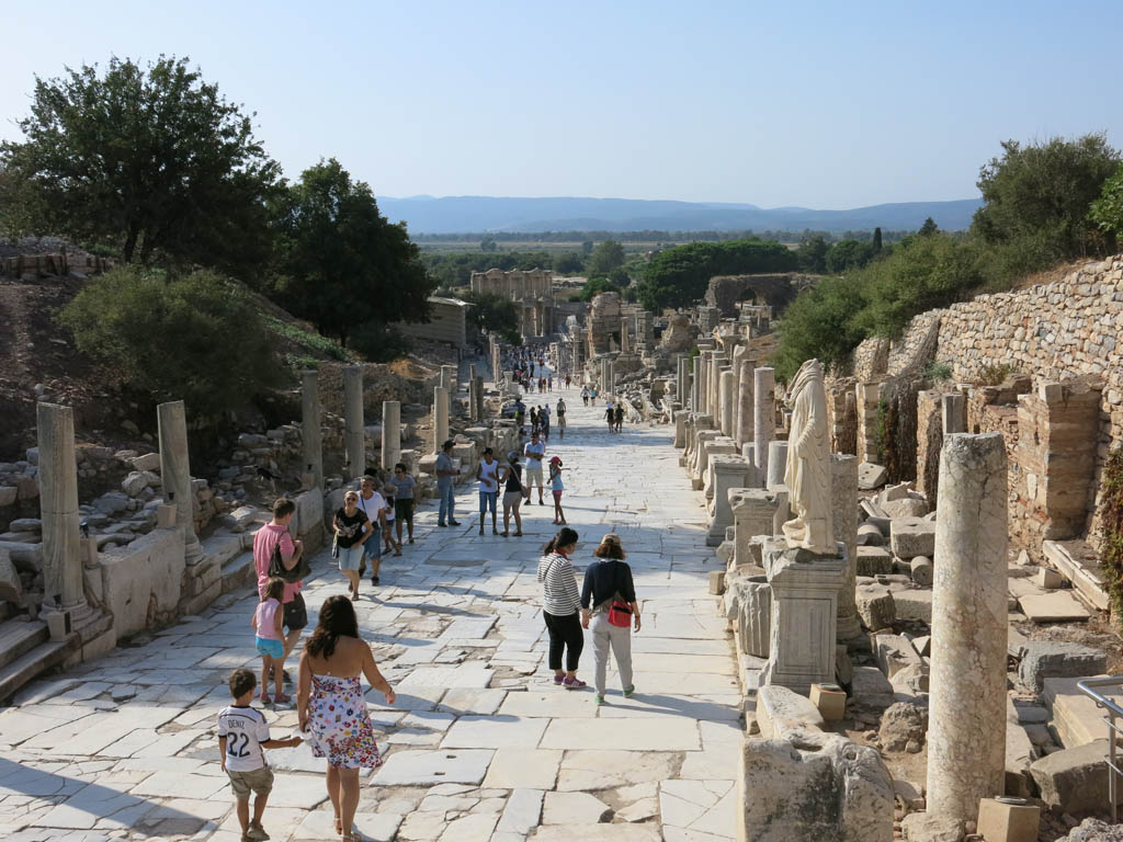 a main street in ephesus