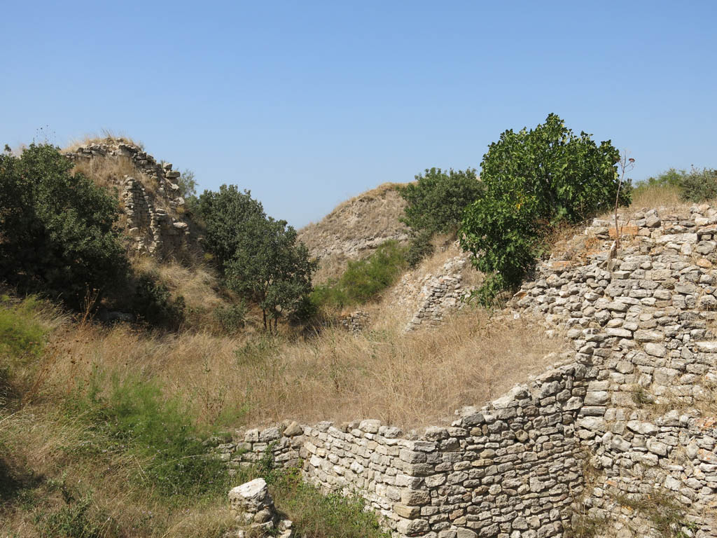 the less spectacular ruins of Troy