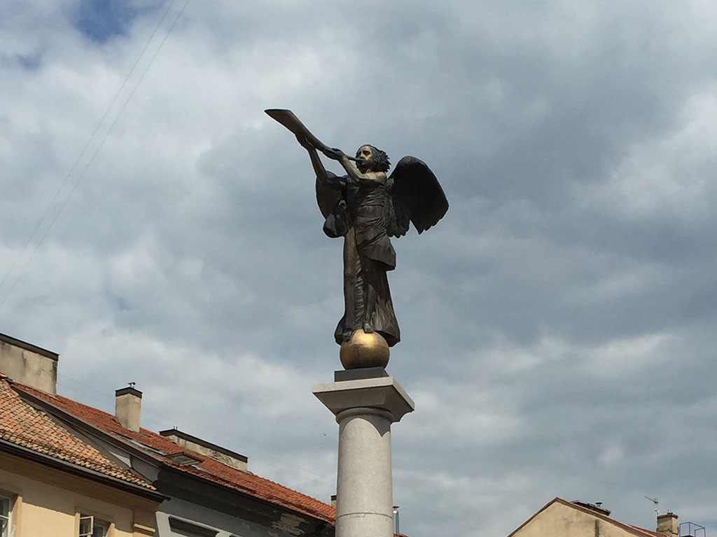 the angel looks over her republic