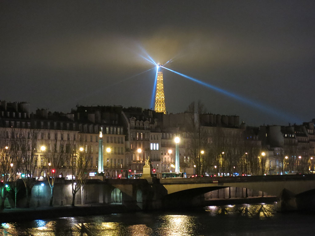 the tower spying out over paris