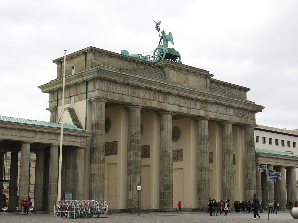 the less photographed side of the Brandenburg Gate