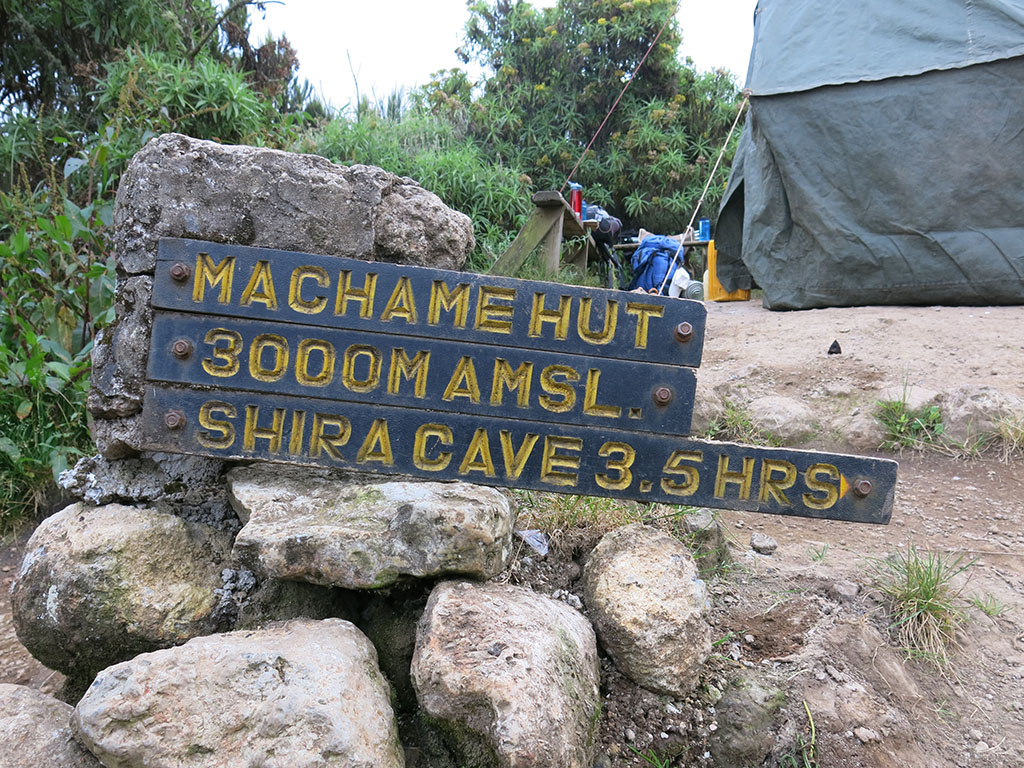 machame camp! level up!