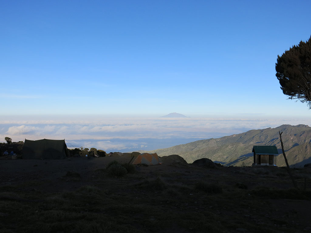 morning at shira camp