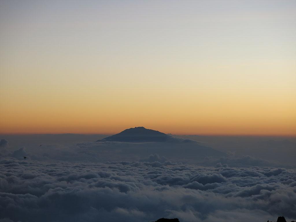 sun rises over tanzania