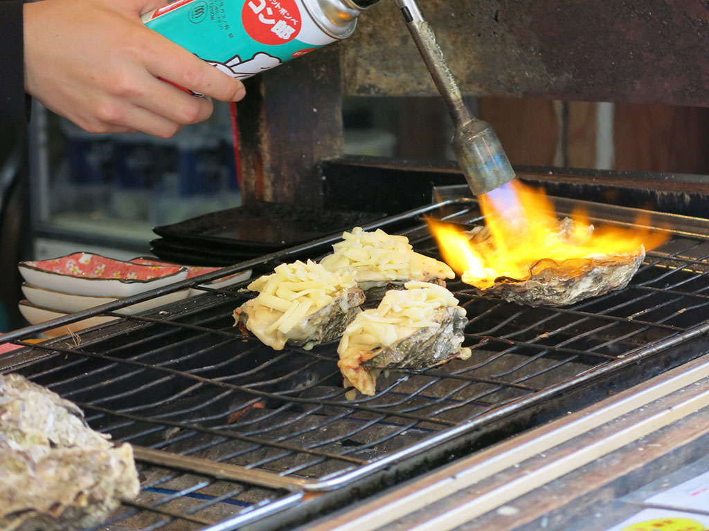 fire! the perfect ingredient for any oyster.