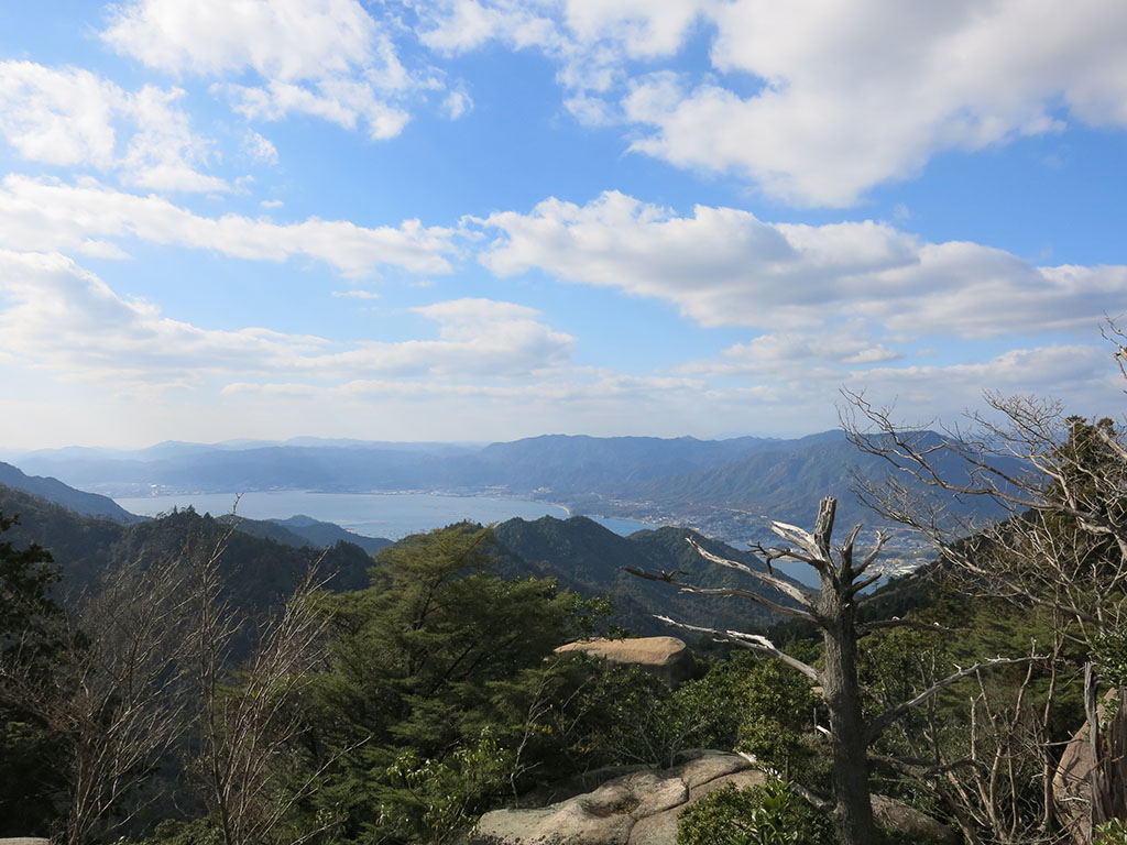 looking out from the top of mt misen