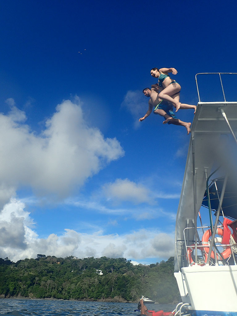two of our troupe take the plunge