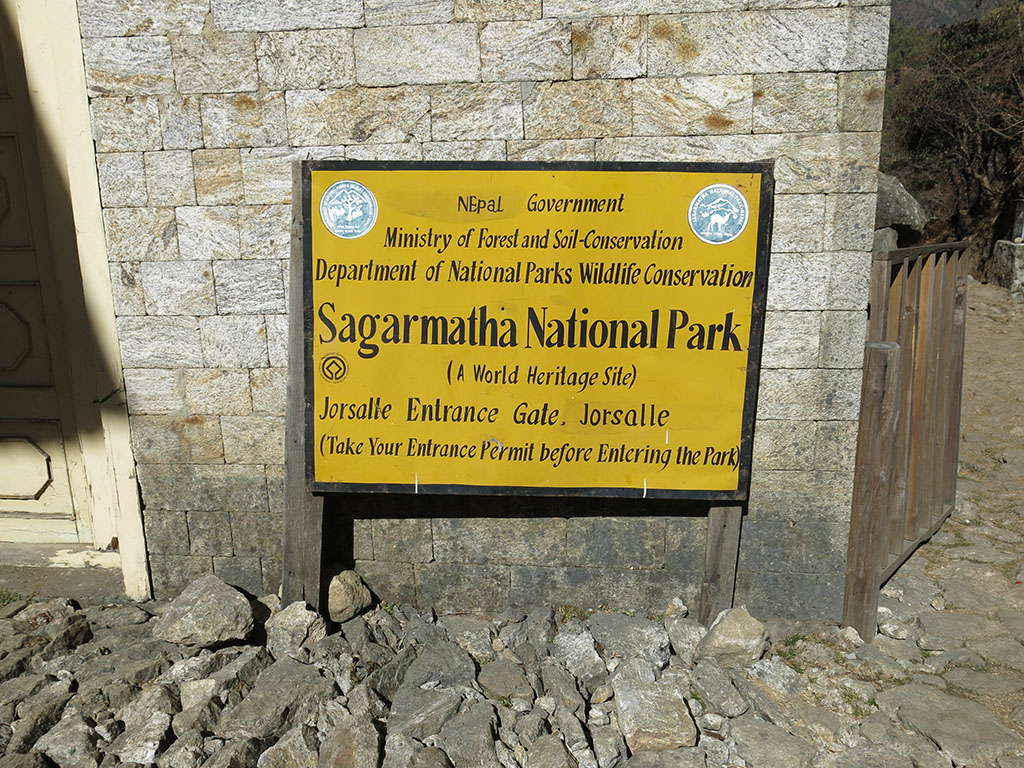 officially into the national park