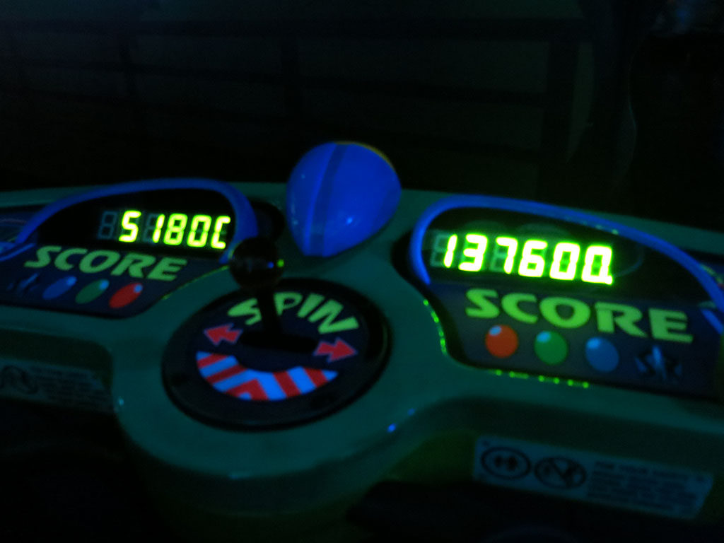 matt beats kate at astro blasters